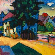 Image: Wassily Kandinsky View of Murnau 1908 (detail), The State Hermitage Museum, St Petersburg