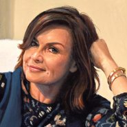 Image: Peter Smeeth Lisa Wilkinson AM (detail), Archibald Prize 2017 finalist