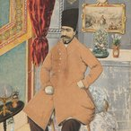 Image: Nasir al-Din Shah Qajar signed by Mubarak Mirza, b Mahmud, Iran, mid 19th century, private collection