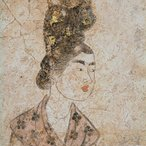 Image: Mural of females c710 (detail), Shaanxi Provincial Institute of Archaeology