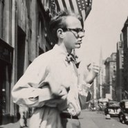 Image: Philip Pearlstein Andy Warhol in New York City c1949 (detail), Philip Pearlstein papers, Archives of American Art, Smithsonian Institution