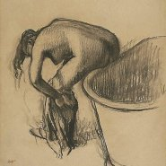 Image: Edgar Degas After the bath c1900, charcoal