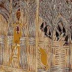 Image: Wandjuk Marika Djan'kawu story c1963 (detail), natural pigments on bark, 161 × 51 cm, gift of Keith and Renée Free in memory of Tony Tuckson 1974 © Wandjuk Marika, licensed by Viscopy, Australia