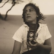 Image: Max Dupain Olive Cotton, Holding Camera 1937 (detail) Mitchell Library, State Library of New South Wales