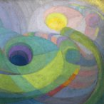 Image: Roy de Maistre Rhythmic composition in yellow green minor 1919 (detail)