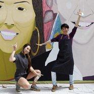 Image: Studio A artist Jaycee Kim and his subject Bhenji Ra