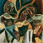 Trois figures sous un arbre (Three figures under a tree) 1907-08