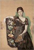 Portrait d'Olga dans un fauteuil (Portrait of Olga in an armchair) 1918