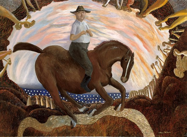 Equestrian self-portrait