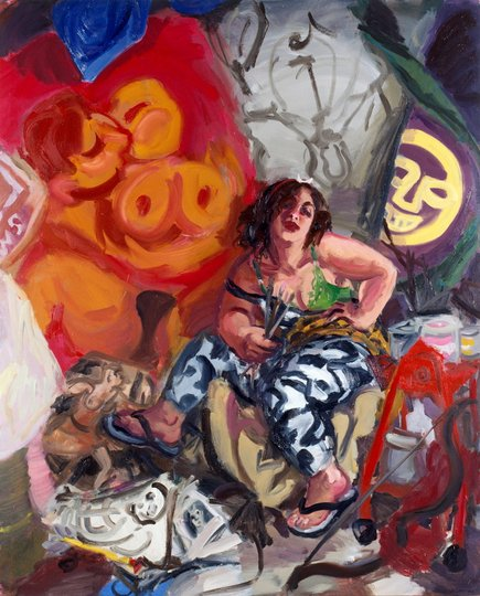 AGNSW prizes Wendy Sharpe Self-portrait as Diana of Erskineville, from Archibald Prize 1996