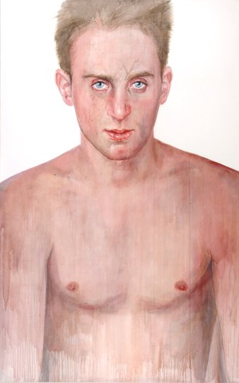 AGNSW prizes Cherry Hood Simon Tedeschi unplugged, from Archibald Prize 2002