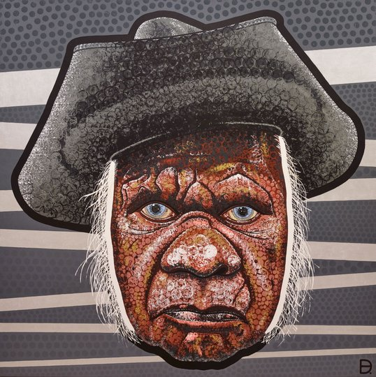 AGNSW prizes Adam (aka Blak Douglas) Hill Smoke and mirrors (Uncle Max Eulo), from Archibald Prize 2015