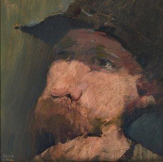 AGNSW prizes Leon Hall Self-portrait, from Archibald Prize 2015