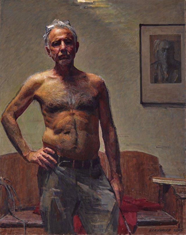 Robert Hannaford, self-portrait