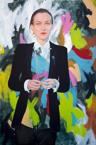 AGNSW prizes Kim Leutwyler Start the riot, from Archibald Prize 2015