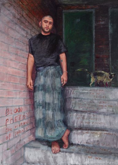 AGNSW prizes Kerry McInnis Omar Musa, the poetry of unease, from Archibald Prize 2015