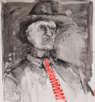 AGNSW prizes Kristin Tennyson Bob Katter, federal MP, from Archibald Prize 2015