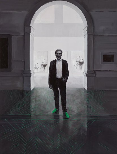 AGNSW prizes Tianli Zu 'Edmund, your Twomblys are behind you', from Archibald Prize 2015
