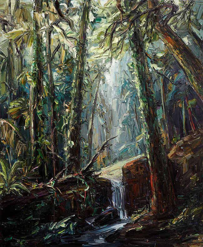 AGNSW prizes Jun Chen Tropical forest II, from Wynne Prize 2015