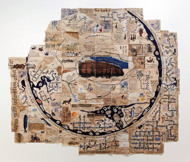 AGNSW prizes Christine Fontana Mappa mundi: the known world, from Wynne Prize 2015