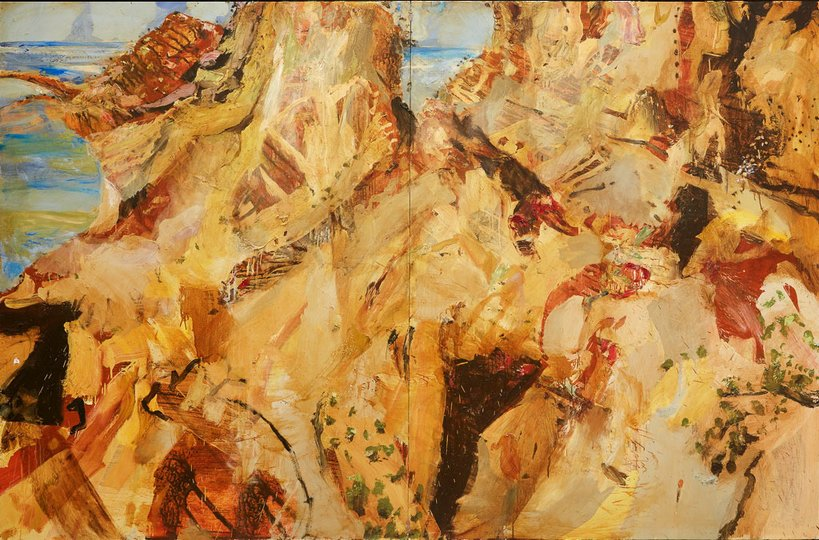 AGNSW prizes Luke Sciberras Up Shit Creek, Gallipoli, from Wynne Prize 2015