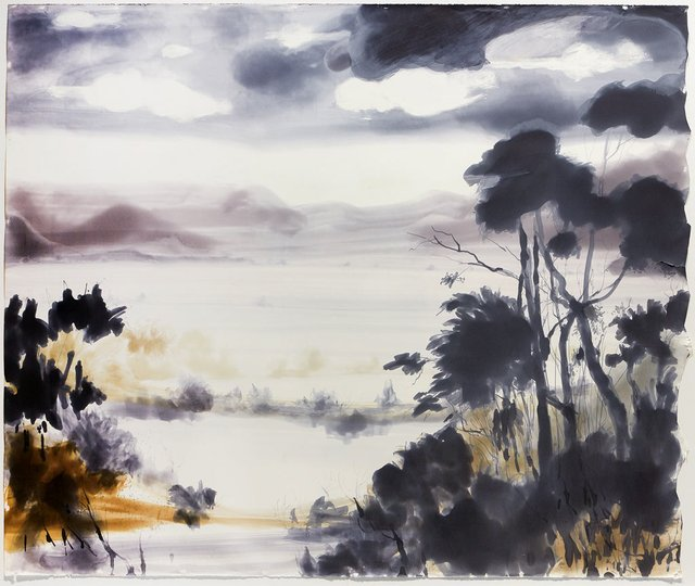 AGNSW prizes Susan J White Approaching storm, from Wynne Prize 2015