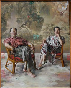The artist couple: M Huang and F Yu