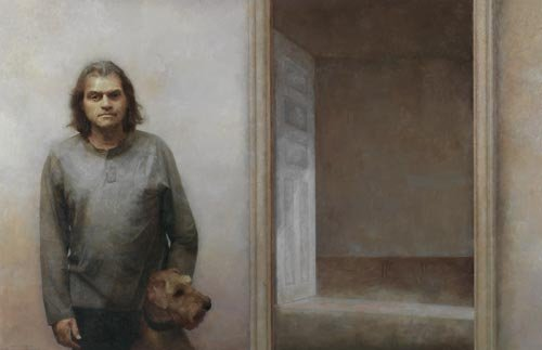 AGNSW prizes Adam Chang Brian, the dog and the doorway, from Archibald Prize 2007