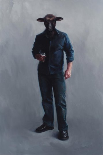 AGNSW prizes Darren Crothers Black sheep of the family, from Archibald Prize 2007