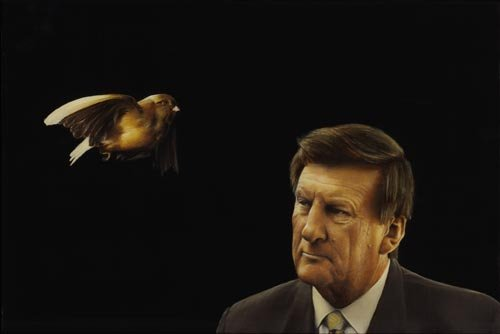 A bird flies past Jeff Kennett