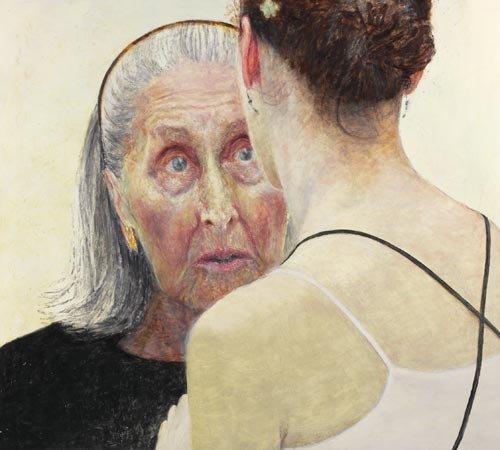 AGNSW prizes Jenny Sages Irina Baronova (handing on the baton), from Archibald Prize 2007