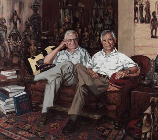 AGNSW prizes Xu Wang John Yu and George Soutter, from Archibald Prize 2007