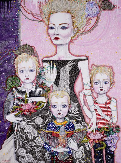 AGNSW prizes Del Kathryn Barton Mother (a portrait of Cate), from Archibald Prize 2011