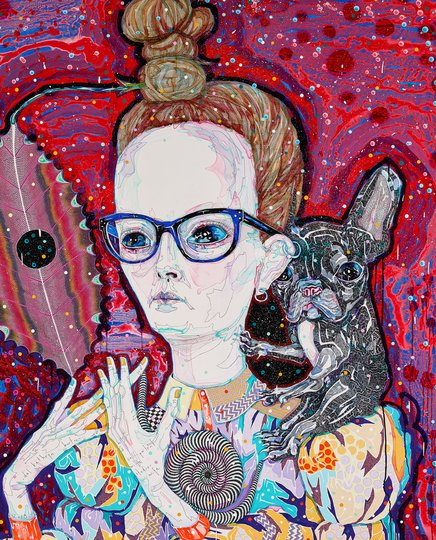 AGNSW prizes Del Kathryn Barton Self-portrait with studio wife, from Archibald Prize 2018