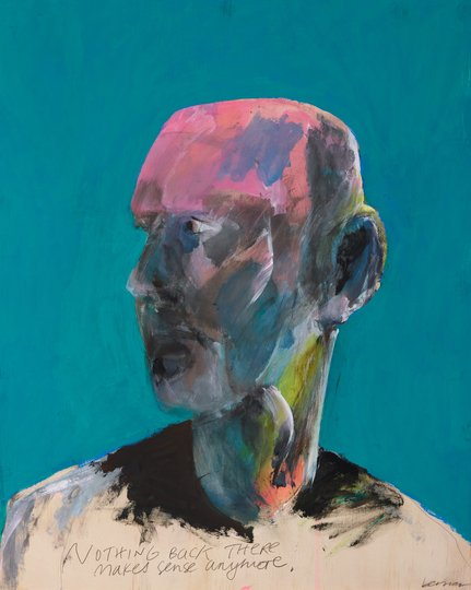 AGNSW prizes Peter Berner Self-portrait with hindsight, from Archibald Prize 2018
