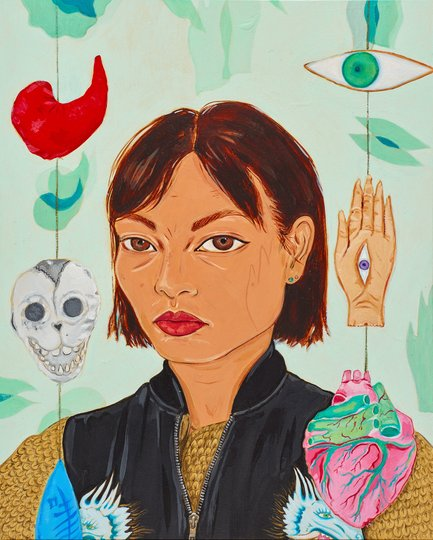AGNSW prizes Kate Beynon With amulets and their shadows, from Archibald Prize 2017