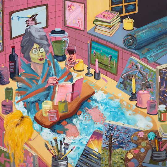 AGNSW prizes Amber Boardman Self-care exhaustion, from Archibald Prize 2018