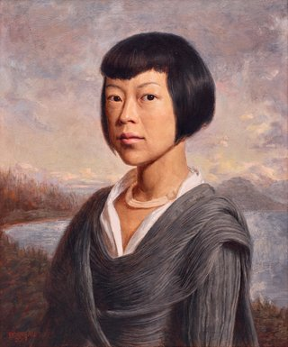AGNSW prizes Andrew Bonneau Portrait of Ayako Saito, from Archibald Prize 2017