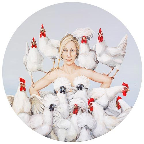 AGNSW prizes Joanna Braithwaite Chook, chook, chook, from Archibald Prize 2008