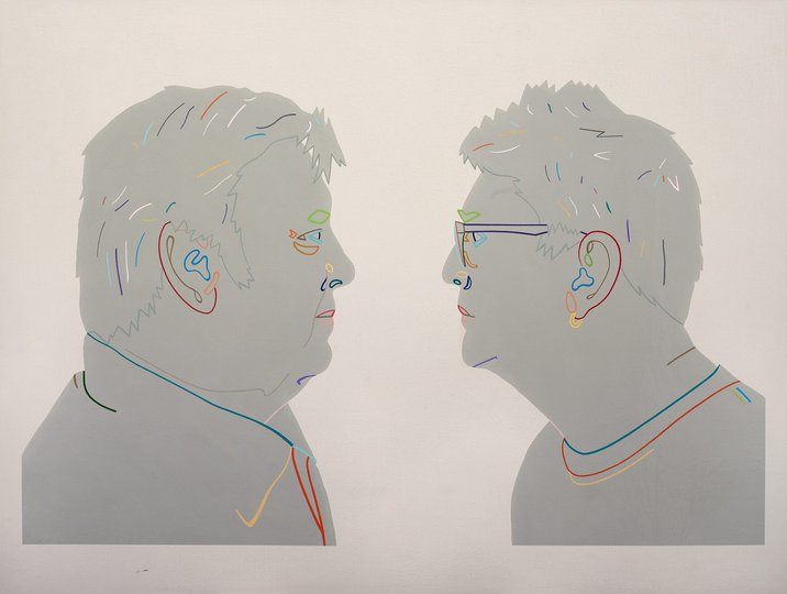 AGNSW prizes Jon Campbell Two sunny boys (Peter and Jeremy Oxley), from Archibald Prize 2017