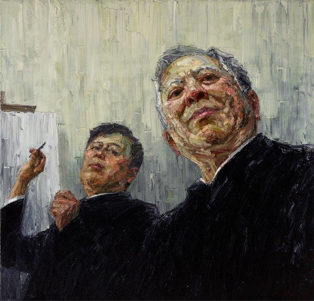 John Yu with artist