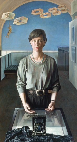 AGNSW prizes Jiawei Shen Hedda's camera (Portrait of Claire Roberts), from Archibald Prize 1994