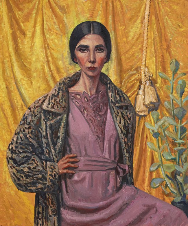 AGNSW prizes Yvette Coppersmith Self-portrait, after George Lambert, from Archibald Prize 2018
