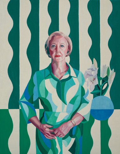 AGNSW prizes Yvette Coppersmith Professor Gillian Triggs, from Archibald Prize 2017