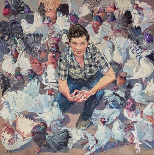 AGNSW prizes Lucy Culliton Lucy and fans, from Archibald Prize 2016