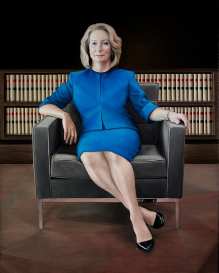 AGNSW prizes Yvonne East The Honourable Chief Justice Susan Kiefel AC, from Archibald Prize 2018