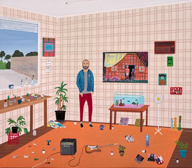 AGNSW prizes Marc Etherington Paul (Paul Williams in his studio), from Archibald Prize 2017
