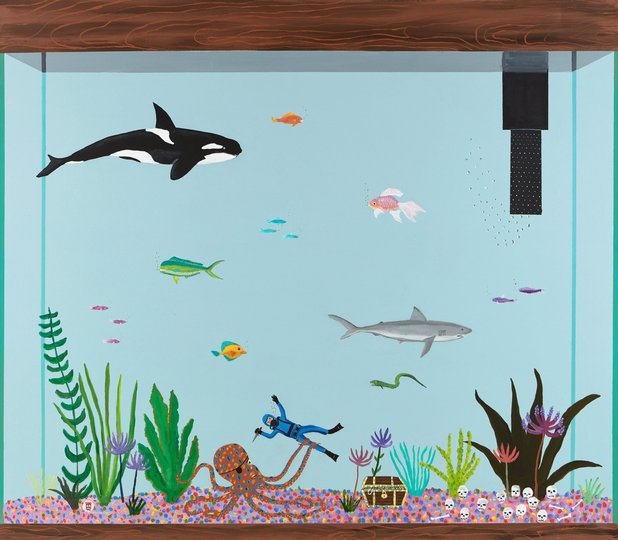 AGNSW prizes Marc Etherington That's life though, from Sir John Sulman Prize 2017