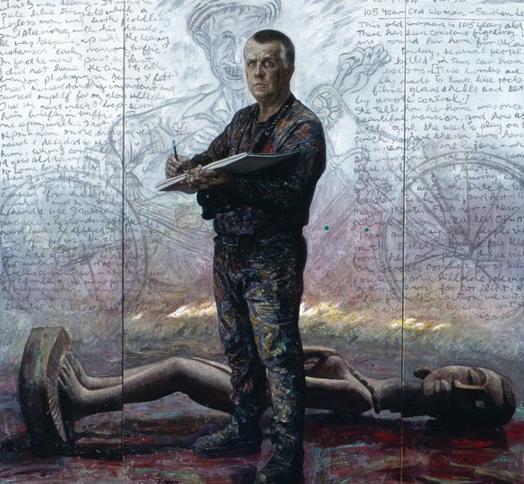 AGNSW prizes Jiawei Shen Eyewitness (portrait of George Gittoes AM), from Archibald Prize 1998