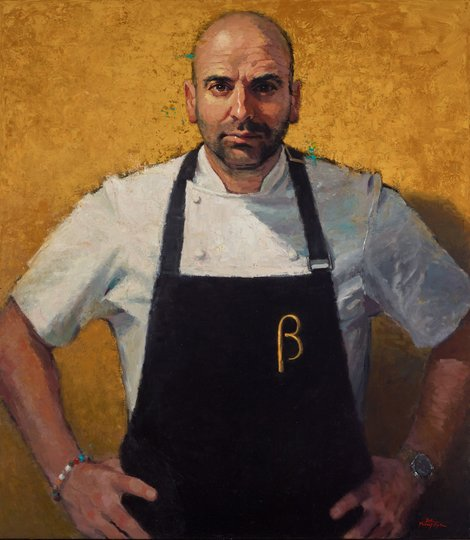 AGNSW prizes Betina Fauvel-Ogden George Calombaris, masterchef, from Archibald Prize 2016